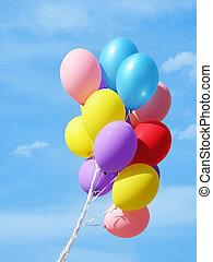 ballons, coloré, ag