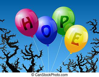 ballons, espoir