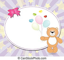 ballons, ours peluche