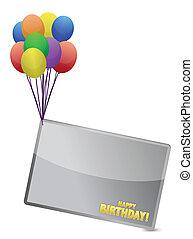 balloon, anniversaire, bannière