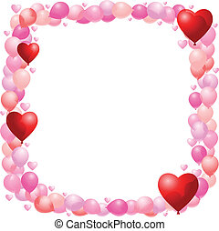 balloon, cadre, valentines