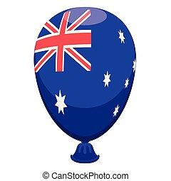 balloon, drapeau australie