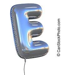 balloon, e, lettre