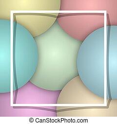 balloon, fond blanc, frame.