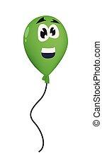 balloon, icône, fond blanc, dessin animé