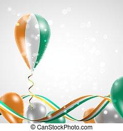 balloon, ivoire cote, drapeau