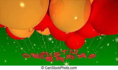 balloon, noël, joyeux