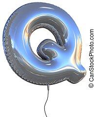 balloon, q, lettre