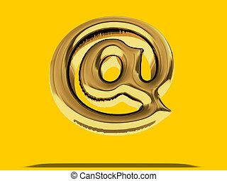 "balloon, symbole., ""at"", or, 3d"