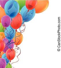 balloons., coloré, fond, célébrer
