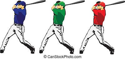ballplayer, vecteur, -