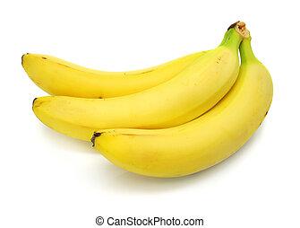 banane, blanc, isolé, fond, fruits