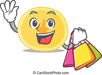 banane, onduler, heureux, tenue, chips, sac, riche, achats