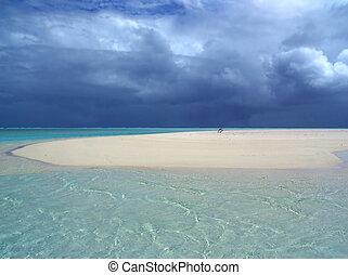 banc sable, orage