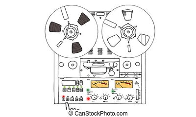 bande, analogue, enregistreur