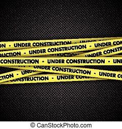 bande, construction, métal, fond, sous