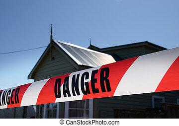 bande, danger, avertissement