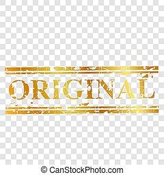 bande, doré, simple, timbre, effet, caoutchouc, vecteur, fond, original, transparent, rouges