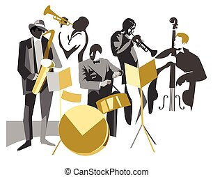 bande, jazz