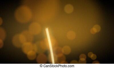bande, lumière, brouillé, lumières