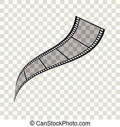 bande, pellicule, illustration
