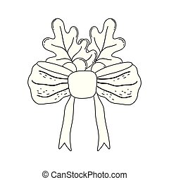 bande, ruban, pousse feuilles, arc