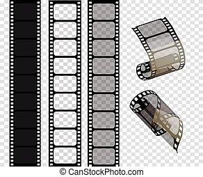 bandes, eps., illustration, série film, .vector, vecteur, 10
