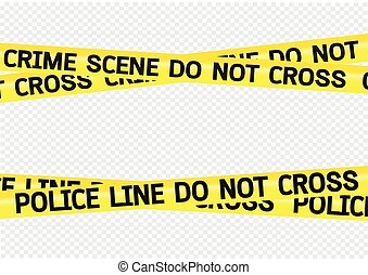bandes, scène crime, illustration, danger