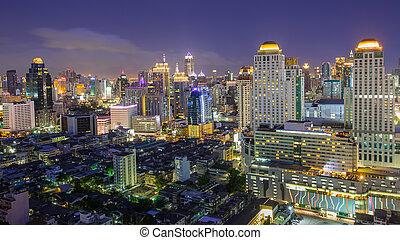 bangkok, en ville, horizon ville