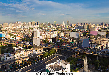 bangkok, horizon ville, en ville