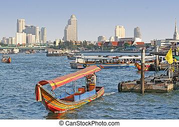bangkok, rivière