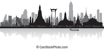 bangkok, thaïlande, silhouette horizon, ville