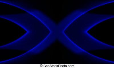 bannière, bleu, laser, flamme, lumière, néon