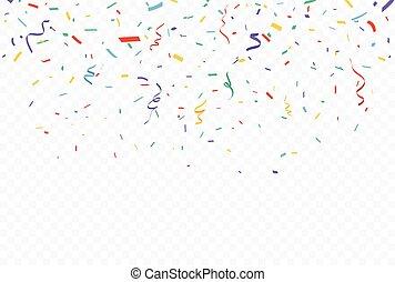 bannière, confetti, coloré, célébration, conception