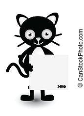 bannière, illustration, chat