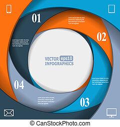 bannière, infographic, affaires modernes