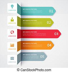 bannière, minimalistic, moderne, infographics