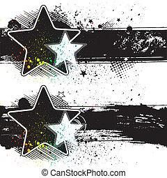 bannières, étoile