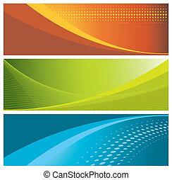 bannières, (headers), coloré
