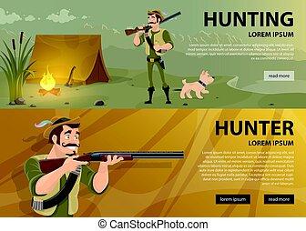bannières horizontales, chasse
