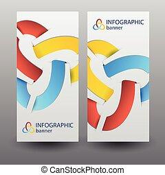 bannières, infographic, business, vertical