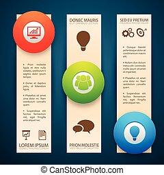 bannières, infographic, vertical