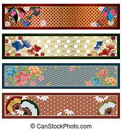 bannières japonaises, traditionnel