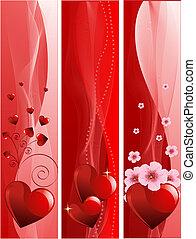 bannières, jour valentine
