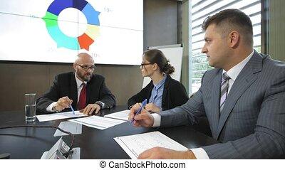 banque, lent, monétaire, mouvement, directeurs, planche, politique, réunion, questions