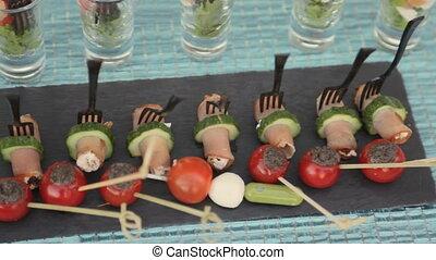 banquet, délicieux, collations