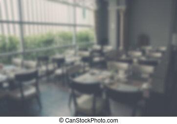 barbouillage, fond, restaurant