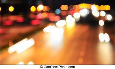 barbouillage, timelapse, trafic, lumière