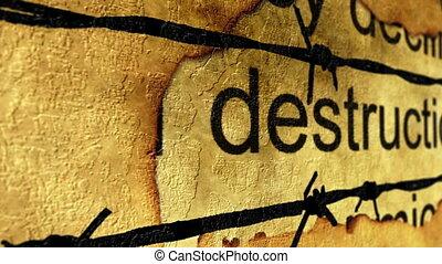 barbwire, concept, destruction