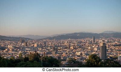 barcelona., vue, ville